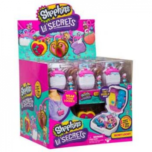 Shopkins Little Secrets Series 1 Wave 1 2 pack Locket ( ONLY SOLD in Display of 30 )