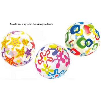 Intex Beach Ball 51cm Lively Print Assorted